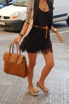 Black and brown lace.