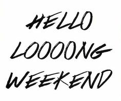 Yes! Easter weekend starts tomorrow! What do you have planned?