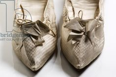 Shoes, 1790s (woven silk)