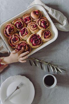 Raspberry and Strawberry Rolls