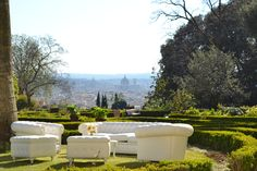 The amazing view from Villa Beatrice, Florence Photocredits By #guidilenci  www.guidilenci.com Lounge Furniture, Outdoor Furniture Sets, Outdoor Decor, Florence Italy, Sofa Set, Chester, Collaboration, Catering, Villa