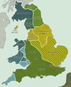 10th century England, Danelaw & Jórvík - Wessex - Cumbria - Northumbria- coast to coast - Scandinavian York