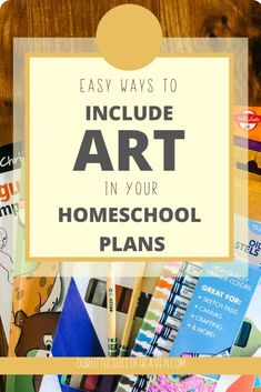 "How to Make Homeschool Art ""Easy"" - Our Little Slice of Heaven Art Curriculum, Preschool Curriculum, Kids Learning Activities, Learning Resources, Fun Learning, Homeschooling, Art Activities, Kindergarten, School Subjects"