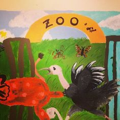 """ZOO at Artspace"" wall art outside of Artspace... #CreativeGenius Photo credit: GRCVB/visitRaleigh.com"