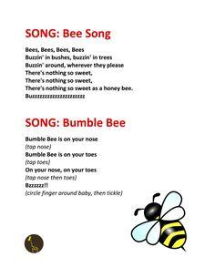SONGS - Bee Song + Bumble Bee