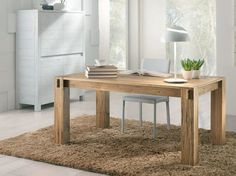 Tavolo allungabile rettangolare in legno massello STORIA by Domus ...