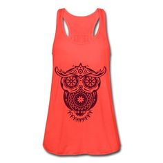 Owl in the style of Sugar Skulls Tank Top | Spreadshirt | ID: 11201641