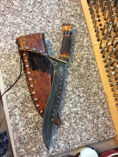 Image result for tombstone bowie knife sheath