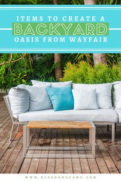 Items To Create A Backyard Bungalow from Wayfair