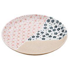 Japanese Pattern Plate - mixed patterns - pottery - ceramics - inspiration