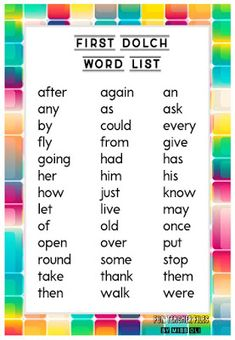 Here are Dolch Sight Word List: Pre-primer, Primer, First, Second and Third. Dolch Sight Word List, Sight Words List, Sight Word Worksheets, Sight Word Games, Sight Word Activities, Tracing Worksheets, Basic Sight Words, English Stories For Kids, English Grammar Rules