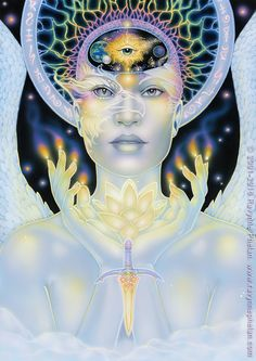 The current project - the Dreams of Gaia Tarot - written and illustrated by tarot and oracle artist, Ravynne Phelan