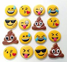 Emoji Cookies by TheCookieCornerShop on Etsy https://www.etsy.com/listing/275078550/emoji-cookies
