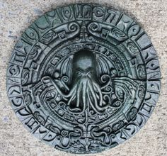 This stunningly detailed wall plaque depicts the dreaded Cthulhu rising from the depths of Rlyeh. The plaque measures inches in diameter and Hp Lovecraft, Lovecraft Cthulhu, Ufo, Yog Sothoth, Eldritch Horror, Lovecraftian Horror, Call Of Cthulhu, Ancient Mysteries, Ancient Aliens