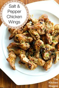 Amazing Salt and Pepper Chicken Wings! Fast, simple and the best I've ever tasted! | The Kitchen Magpie #recipes