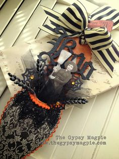 The Gypsy Magpie Terri's Witch Shoe. Isn't this the cutest idea she made?