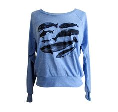 Whale Raglan Sweater  Nautical Marine Life American by friendlyoak, $25.00