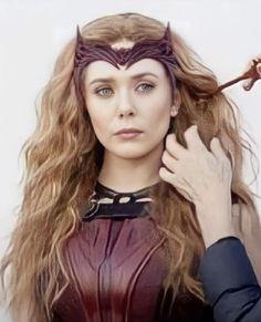 Elizabeth Olsen, Scarlet Witch, Halloween Face Makeup