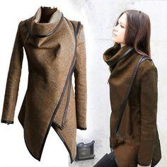 New Fashion Women European Style Irregular Slim Temperament Long Sleeve Wind Coat Jacket_Coats_Women_Women's Fashion Zone & Best Price Clothes