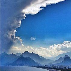 Dramatic clouds at Antalya, Turkey