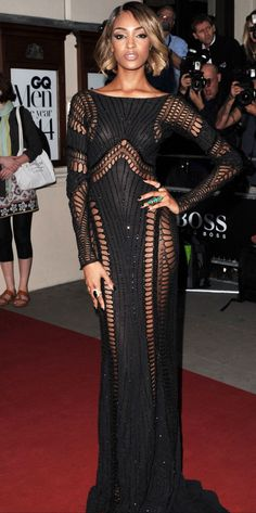 Jourdan Dunn wore a gown from the Zuhair Murad Couture autumn/winter 2014 collection with Stephen Webster jewellery. Couture Fashion, Fashion Beauty, 3d Fashion, Gq Awards, Gq Men, Oscar Dresses, Black Prom, Buy Dress, Dress Prom