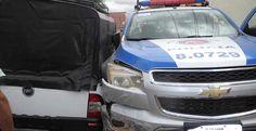 Irecê - Perseguição a suspeito de roubo termina em acidente com viatura da PM