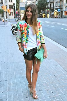 Black & floral. i want to rock some leather shorts