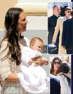 Baptism ceremony of India Casiraghi in Monaco. The christening took place at the Chapel of Mercy (La Chapelle de la Miséricorde) in Monaco. (Andrea Casiraghi and Tatiana Santo Domingo's their second child daughter India Casiraghi, was born on April 12, 2015 in London. She currently occupies the sixth position in the line of succession to the Monegasque throne)