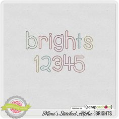 Mimi's Stitched Alpha: Brights by Tickled Pink Studio