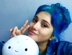 The most adorable selfie with and Spherrison! Canadian Models, Book People, Wild Hair, Emo Girls, Dye My Hair, Woman Face, Blue Hair, Hair Inspo, Hair And Nails