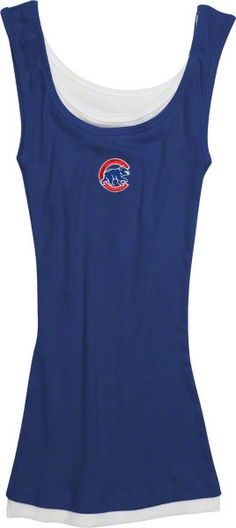 Chicago Cubs Women's Layered Blue Tank Top $24.95 @Chicago Cubs