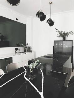 Drømmekjøkkenet del 1 - LENE ORVIK Minimalist Design, Kitchens, Sweet Home, Lens, Living Room, Interior Design, Table, House, Inspiration