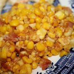 Deep South Dish: Southern Fried Corn--Occasionally substitute cubed proscuitto for the bacon, use fresh corn and frozen shoepeg corn and it is great with either. Never heard of FRIED CORN this should be a new hit! Southern Fried Corn, Southern Dishes, Southern Recipes, Southern Food, Southern Style, Simply Southern, Fried Corn Recipes, Vegetable Recipes, Fried Corn Recipe With Frozen Corn