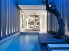 What bliss. An indoor pool near the living room. | Project - 55 Blair Road - Architizer