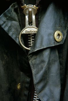 Barbour wax jacket - did you know the zipper pull doubles as a bottle opener?!
