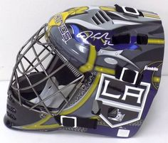 Jonathan Quick Los Angeles Kings Signed Full Size Replica Goalie Mask Steiner