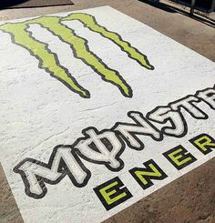 Monster energy street graphic - AlumiGraphics® GRIP - Large format print media that naturally molds to sidewalks and exterior walls
