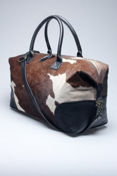 Fancy - Cowhide Duffle Bag by Found Object … - purses handbags totes, oversized handbags, clutch handbags My Bags, Purses And Bags, Crea Cuir, Cowhide Bag, Clutch, Shopper, New Bag, Tote Handbags, Fashion Bags