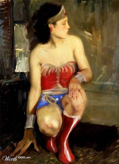 Superheroes invite themselves in classical painting by Worth1000