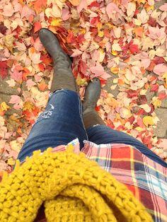 Fall fashion ...plaid & scarf outfit