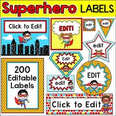 Let your imagination soar when you decorate your classroom using these adorable superhero kids theme labels and templates! This value packed set in. Superhero Labels, Superhero Classroom Theme, Superhero Kids, Classroom Jobs, Superhero Preschool, Classroom Decor, School Decorations, School Themes, School Ideas