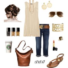 Casual Afternoon, created by dawndayiannelli on Polyvore