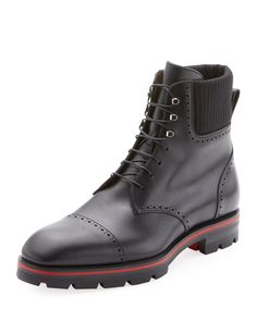 b9423db3e3b CHRISTIAN LOUBOUTIN MEN S CITYCROC LEATHER HIKING BOOTS.   christianlouboutin  shoes