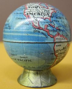 """untitled, Cartographer: German. Anonymous. """"Kitsch"""" Globe. (Published: c1912. """"Made in Germany"""")"""