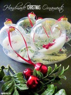 Homespun With Love: Pretty Handmade Christmas Ornaments
