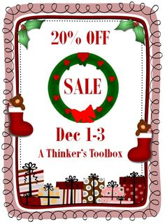 **SALE 20% OFF** Come Shop and Save at A Thinker's Toolbox Store on Dec 1-3.