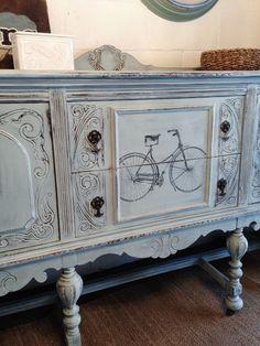 Repurposed Gems: Vintage Bicycle Buffet! #Painted #Furniture #DIY