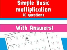 Free Basic Times Table Multiplication Column Multiplication With Answers NinaLaZina by ninariley - Teaching Resources - Tes Snakes And Ladders Online, Multiplication Worksheets, Times Tables, Free Stuff, Teaching Resources, Learning, Printable, Multiplication Tables, Studying
