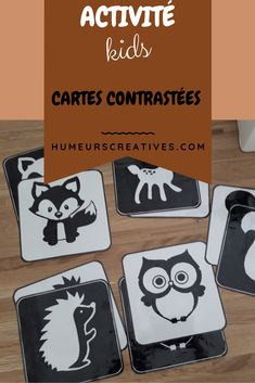 Baby Flash Cards, Animals Black And White, Sensory Book, Montessori Activities, Busy Bags, Woodland Animals, Games For Kids, Baby Toys, Baby Gifts