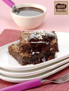 Brownies de almendras con chocolate a la canela